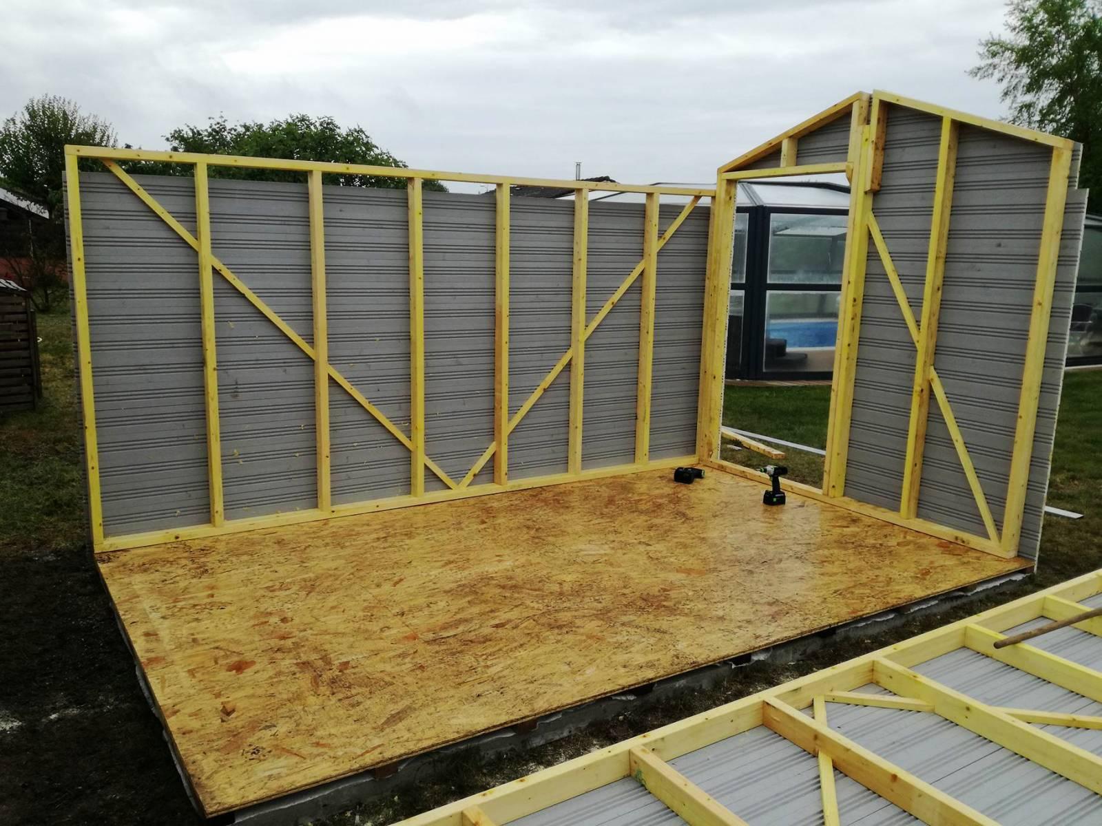 Plan Abri De Jardin En Bois construction d'un abri de jardin ossature bois sur-mesure à