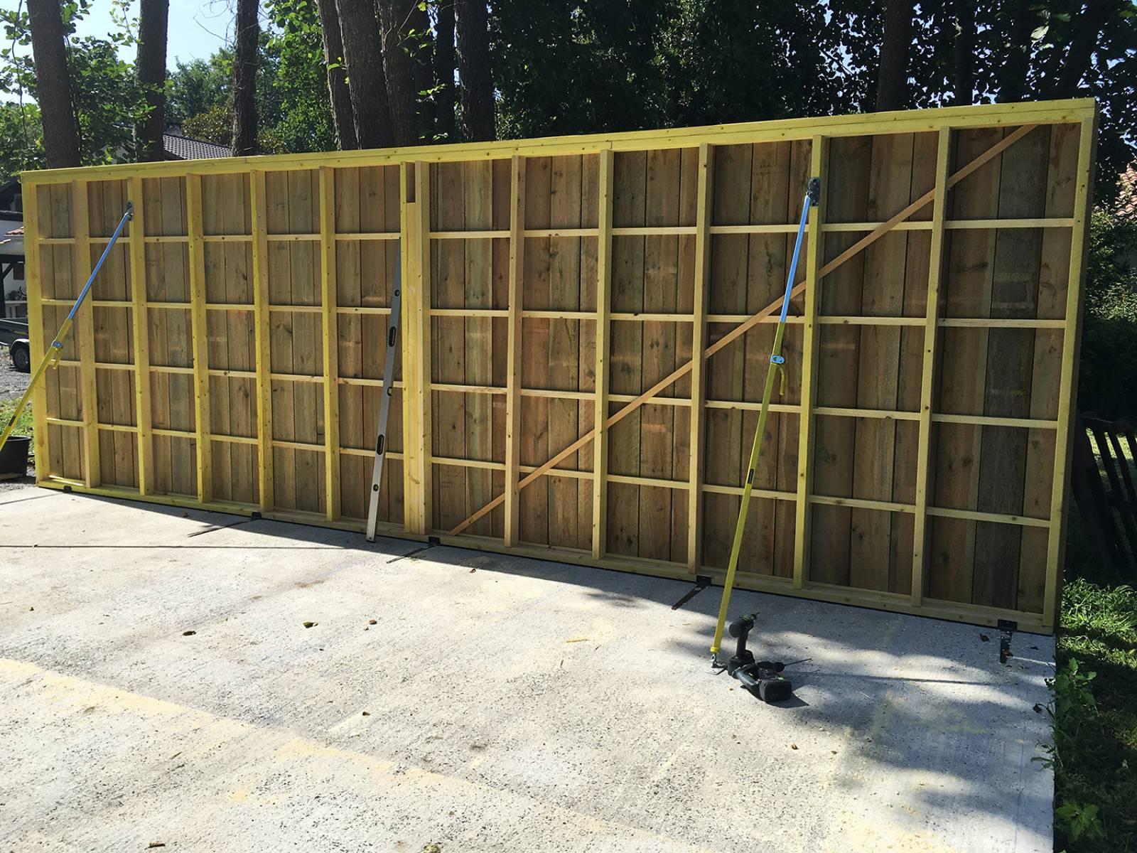 Fabrication D Un Garage En Bois De 30m2 à Biscarrosse