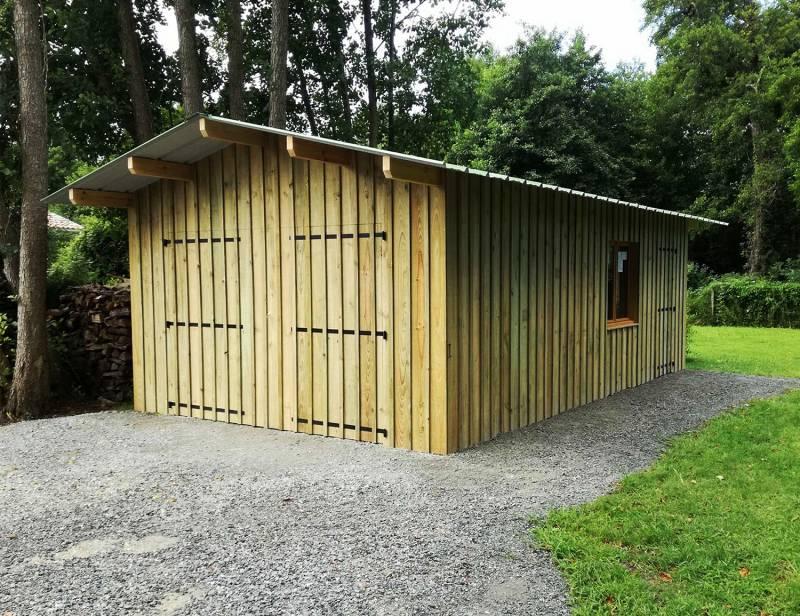 Fabrication D Un Garage En Bois De 30m2 A Biscarrosse Artisans